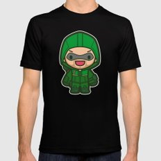 Green Archer Black Mens Fitted Tee MEDIUM