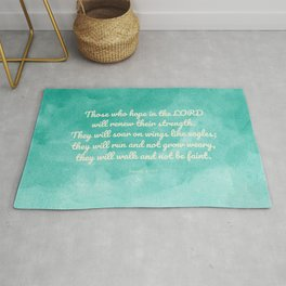 Hope in the Lord Bible Verse, Isaiah 40:31 Rug