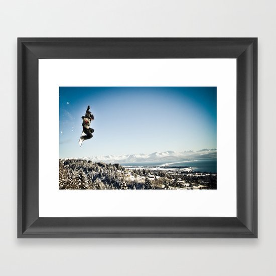 Snowbaorder Framed Art Print