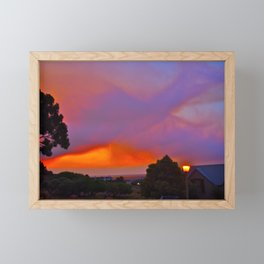 Smoky Sunset Bay Framed Mini Art Print