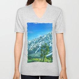 Himalaya mountains Unisex V-Neck
