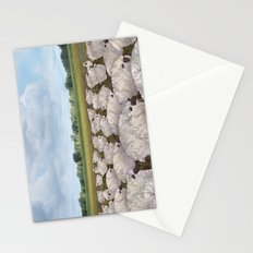 sheep in the field Stationery Cards
