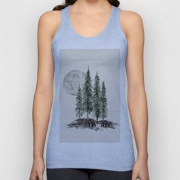 Full Moon Rising Unisex Tank Top