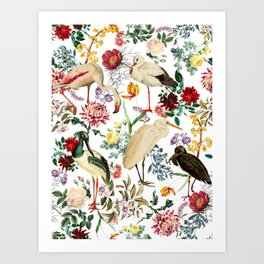 Long Legged Birds I Art Print