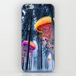Winter Forest of Electric Jellyfish Worlds iPhone Skin