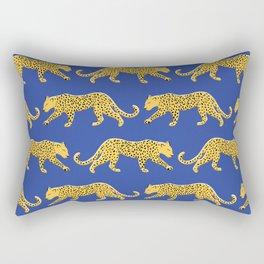 The New Animal Print - Blue Rectangular Pillow