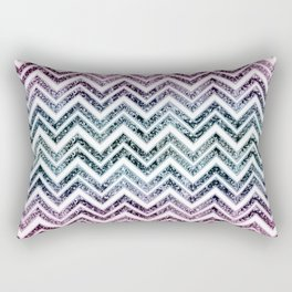 Unicorn Princess Glitter Glam Chevron #1 #shiny #pastel #decor #art #society6 Rectangular Pillow