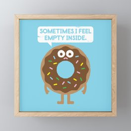 It's Not All Rainbow Sprinkles... Framed Mini Art Print