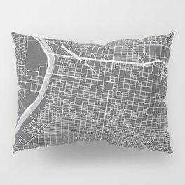 Center City Philadelphia Map Pillow Sham