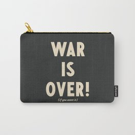 War is over!, if you want it, vintage art, peace, Yoko Ono, Vietnam War, civil rights Carry-All Pouch