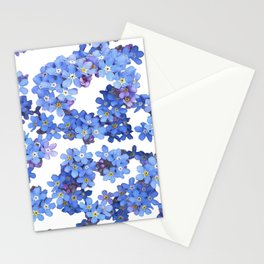 Forget-me-not Watercolor Stationery Cards