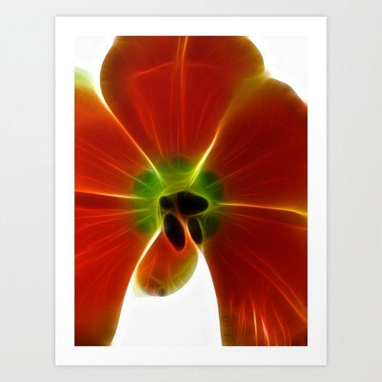 Fractal Tulip Art Print