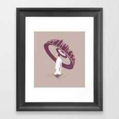 Raining Framed Art Print