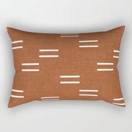 double dash - burnt orange Rectangular Pillow
