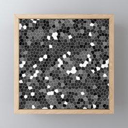 Gray Polycamo Framed Mini Art Print