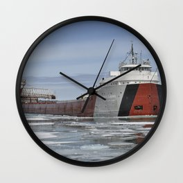 Philip R Clarke Great Lakes Freighter Wall Clock