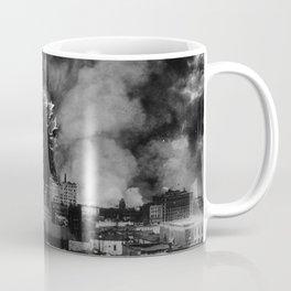Old Time Godzilla San Francisco Fire Coffee Mug
