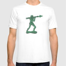The Pen is Mightier Mens Fitted Tee White MEDIUM