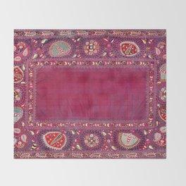 Shakhrisyabz  Antique South West Uzbekistan Suzani Embroidery Throw Blanket