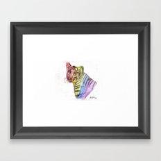 Abby RAINBOW Tiger Framed Art Print
