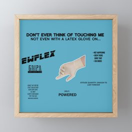 Latex! Framed Mini Art Print