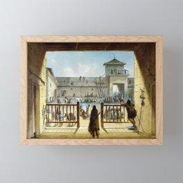Alfred Jacob Miller Interior of Fort Laramie Framed Mini Art Print