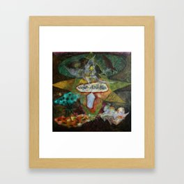 the cage, fish and me Framed Art Print