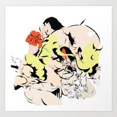 Flowers go to the trashbin Art Print