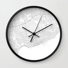 Toronto, Canada Minimalist Map Wall Clock