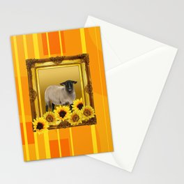 Sheep Frame Geometric yellow Stationery Cards