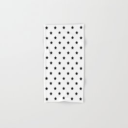 Black and white Star Pattern Hand & Bath Towel