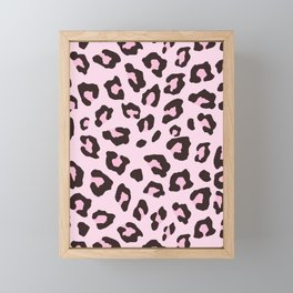 Leopard Print - Pink Chocolate Framed Mini Art Print