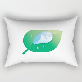 Thunderhead reflected in a Drop of water Rectangular Pillow