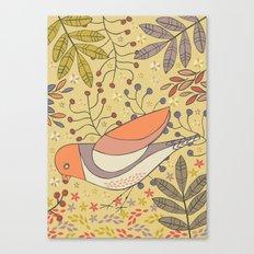 Wild Berry Garden Bird Canvas Print