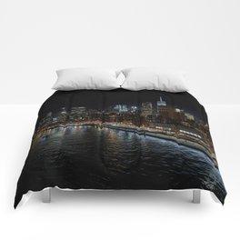 Manhattan Skyline East Comforters