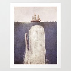The Whale - exclusive purple variant  Art Print