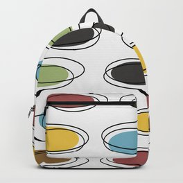Mid Century Modern Ovals Scribbles Backpack
