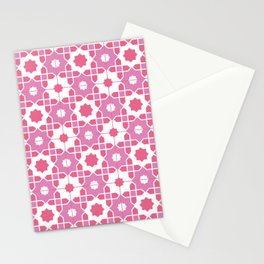 Portuguese Azulejos - Pink Palette Stationery Cards