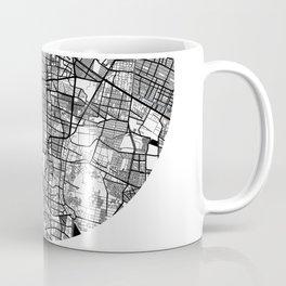 Mexico City Area City Map, Mexico City Circle City Maps Print, Mexico City Black Water City Maps Coffee Mug