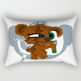 Tank The Teddy Rectangular Pillow