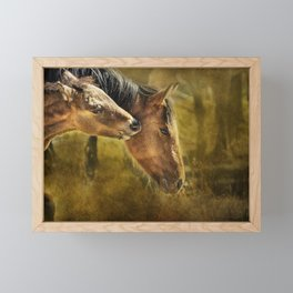 Horsing Around No. 2 - Pryor Mustangs Framed Mini Art Print