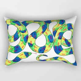 Twisty Snek Rectangular Pillow