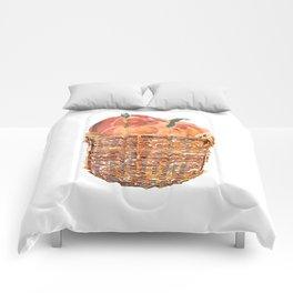 Autumn Basket of Pumpkins Comforters