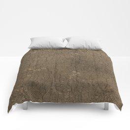 Rustic Tree Bark Pattern Comforters