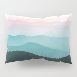 Smoky Mountain National Park Sunset Layers III - Nature Photography Pillow Sham