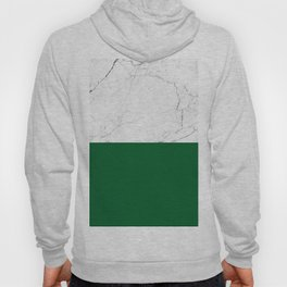 emerald green and white marble Hoody