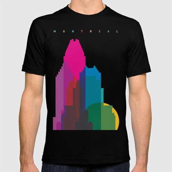 Shapes of Montreal. Accurate to scale. T-shirt
