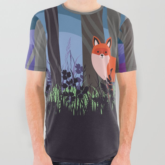 Magical Woodland (St. Norbert) All Over Graphic Tee