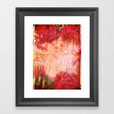 girl butterfly Framed Art Print