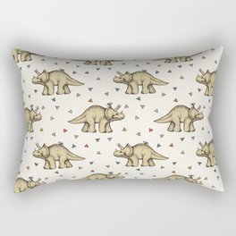 Triceratops & Triangles Rectangular Pillow